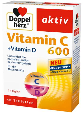 Допелхерц® актив Витамин C 600+Витамин D